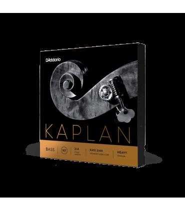 D'addario Kaplan Bass String Set, 3/4 Scale, Heavy Tension K610 3/4h