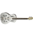 """Gretsch G9221 Bobtail Round-Neck Acoustic / Electric Steel Body Resonator Guitar Weathered """"Pump House Roof"""" 271-6015-000"""