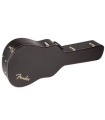Fender© Flat-Top Dreadnought Acoustic Guitar Case Black with Black Plush Interior 099-6203-306