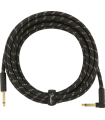 Fender Deluxe Series Instrument Cable, Tweed Black Tweed 099-0820-085