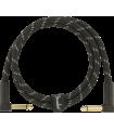 Fender Deluxe Series Instrument Cable, Tweed Black Tweed 099-0820-096